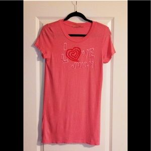JUICY COUTURE GIRLS PINK TOP SZ LARGE